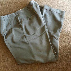 Grey/silver 40 x 32 haggar cuffed dress pants